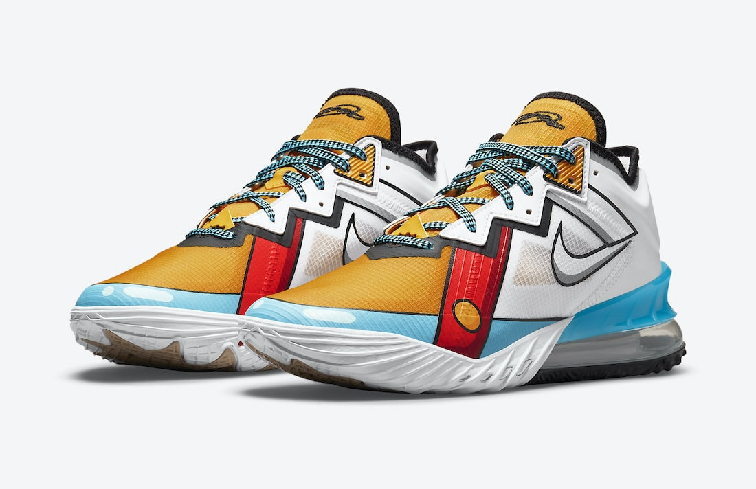 """The Nike LeBron 18 Low """"Stewie Griffen"""" Drops September 3rd"""