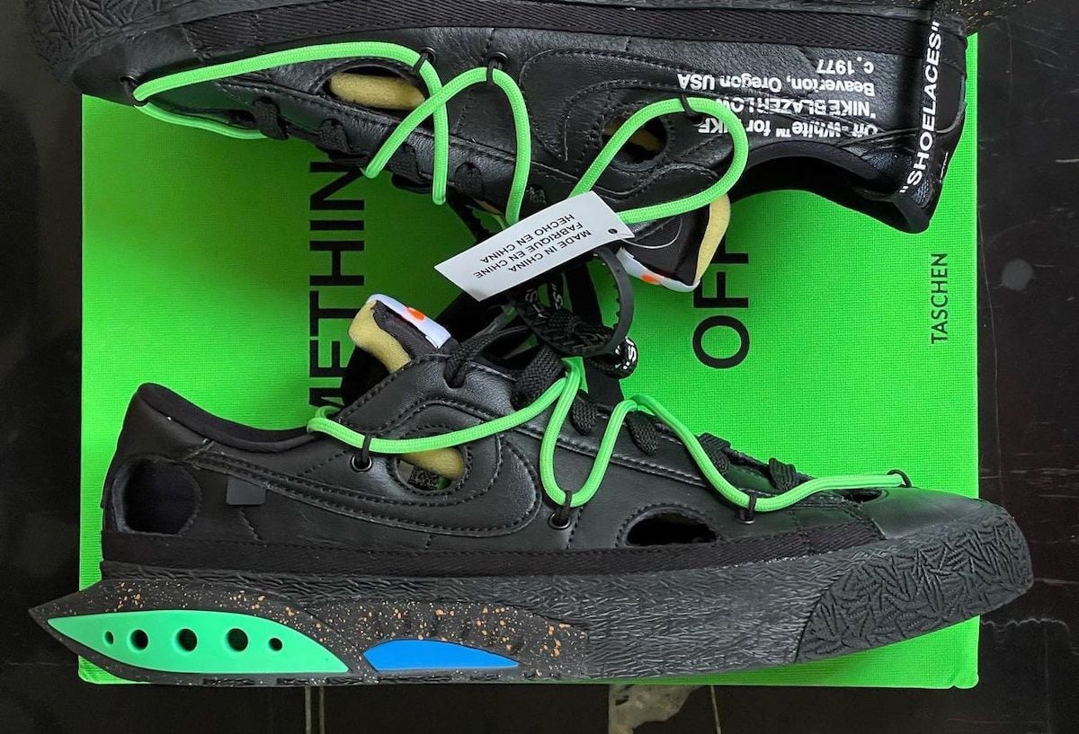 """Detailed Look at the Off-White x Nike Blazer Low """"Black"""""""