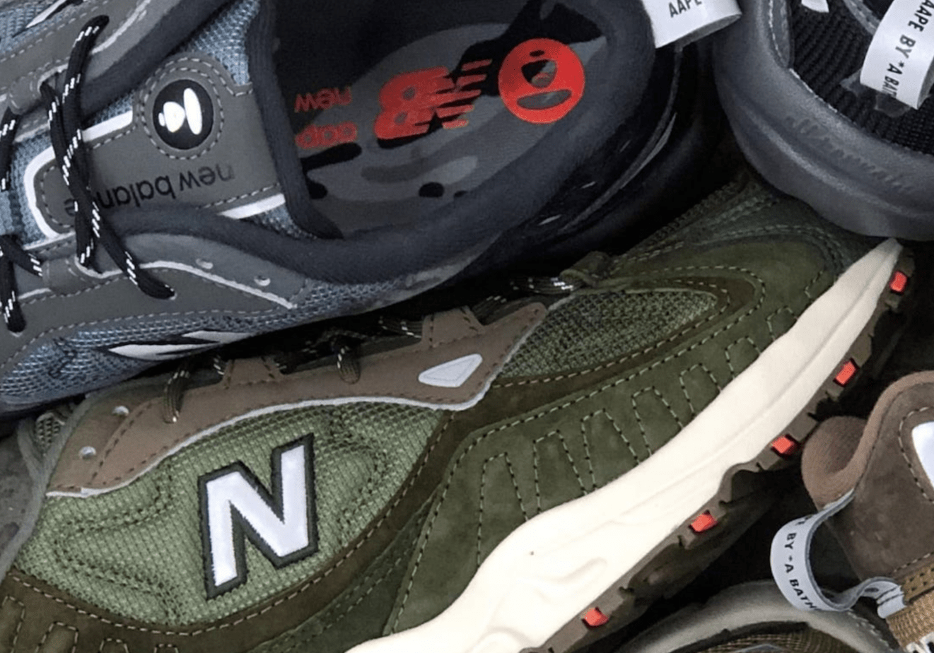 AAPE Teases a Collaboration With New Balance Featuring the 703 Trainer
