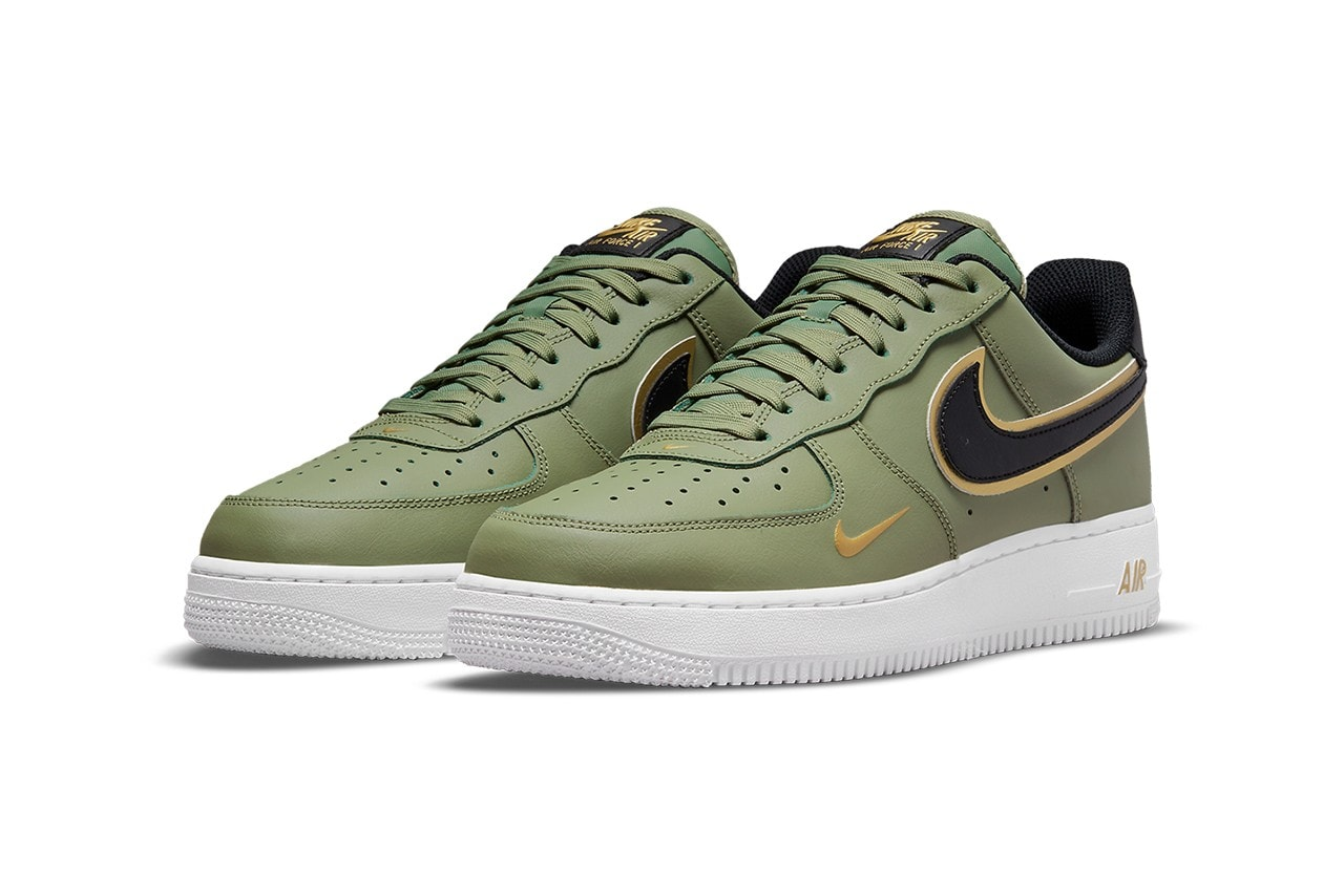 Nike's Air Force 1 Surfaces in a Trio of Gold Foil-Trimmed Colorways