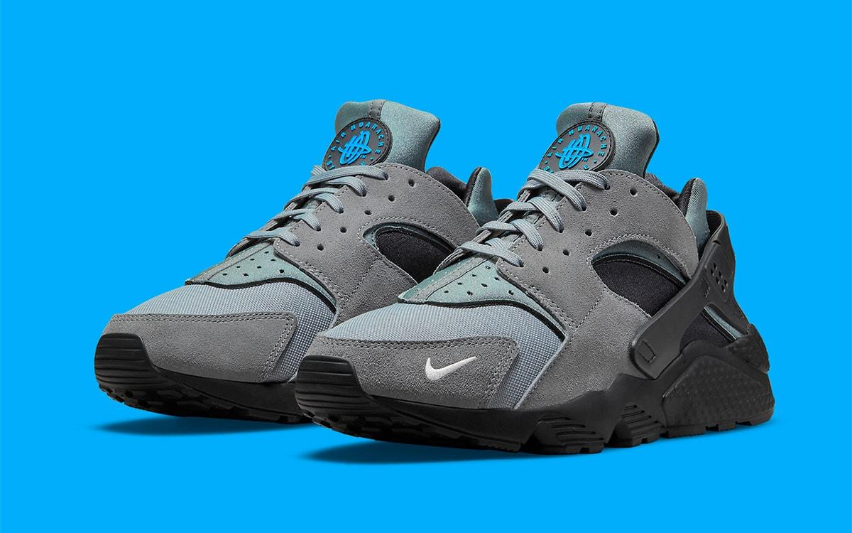 "Nike Adds Mini Swooshes to a ""Storm Grey"" Air Huarache"