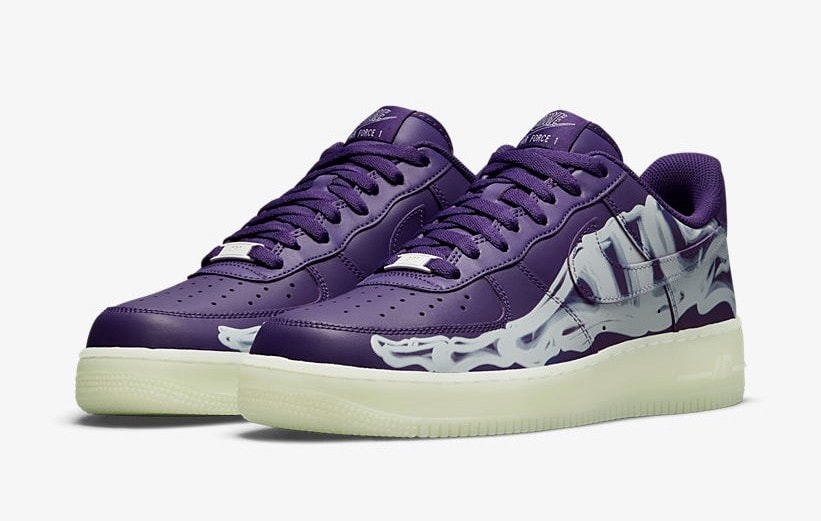 """Official Images of the Nike Air Force 1 """"Purple Skeleton"""""""