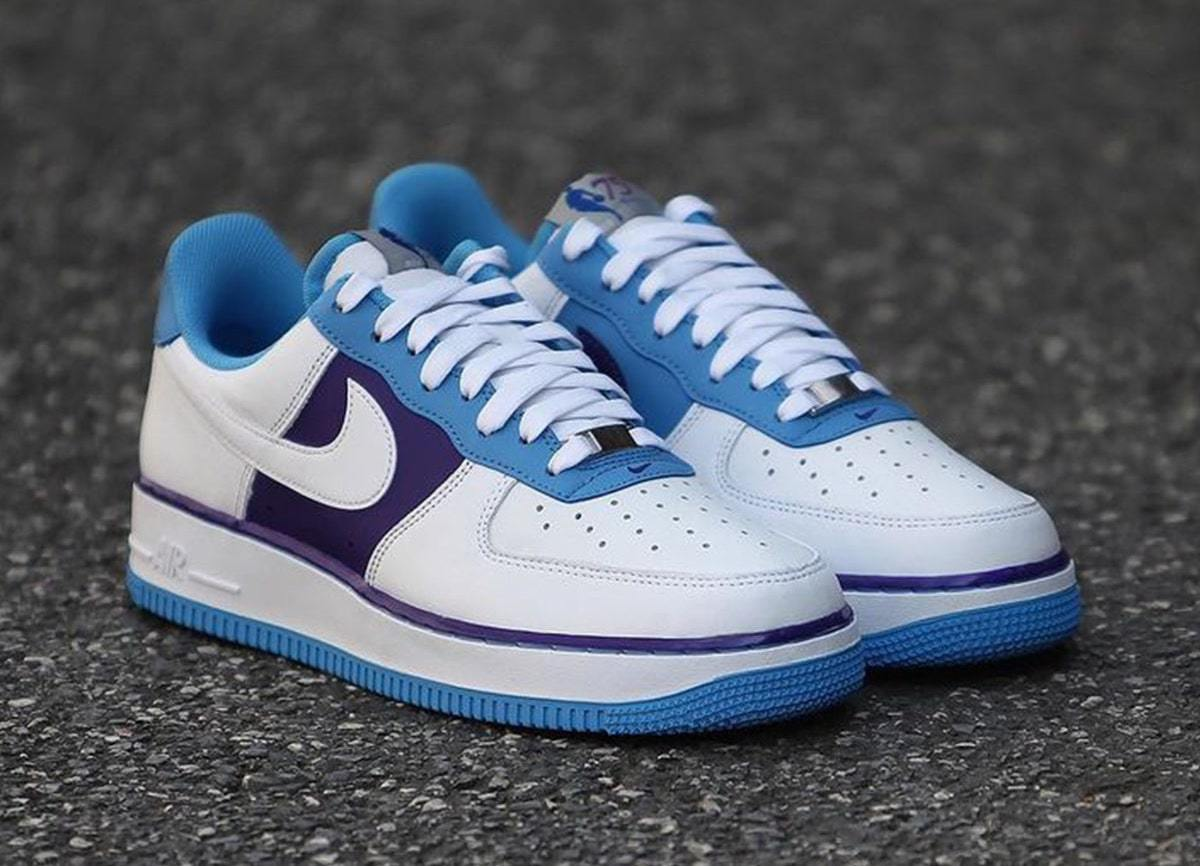 """Detailed Images of the NBA x Nike Air Force 1 Low """"Lakers"""""""