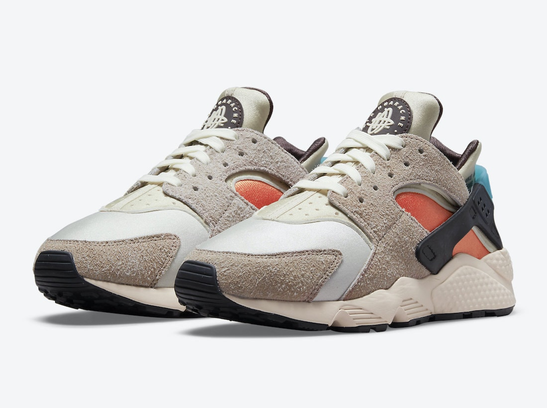 """Nike's Remastered Air Huarache Dons """"Moon Fossil""""-Shaded Suede Paneling"""