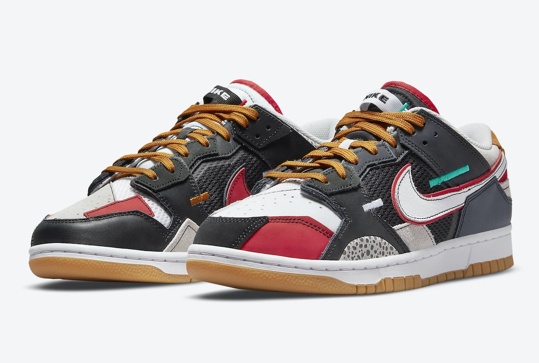 """Nike Dunk Low Scrap Dropping in """"University Red"""""""