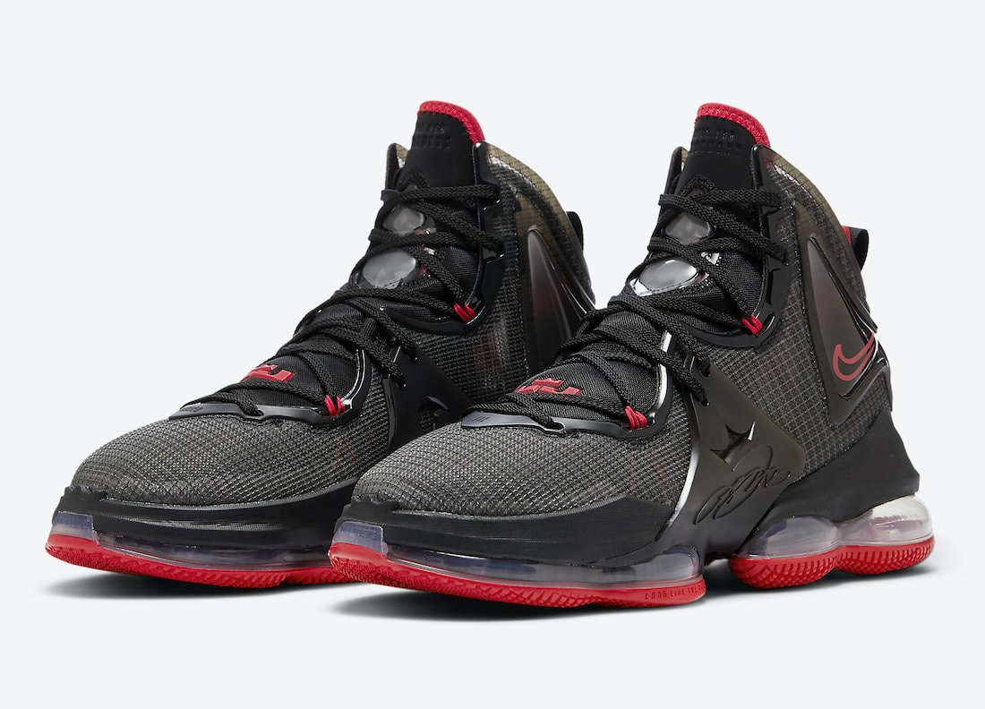 """Official Images of the Nike LeBron 19 """"Bred"""""""