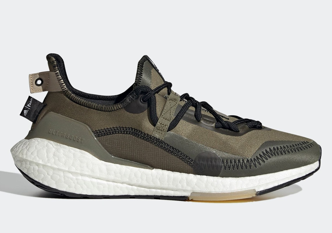 Parley and adidas Team Up For an Olive Ultra Boost 21