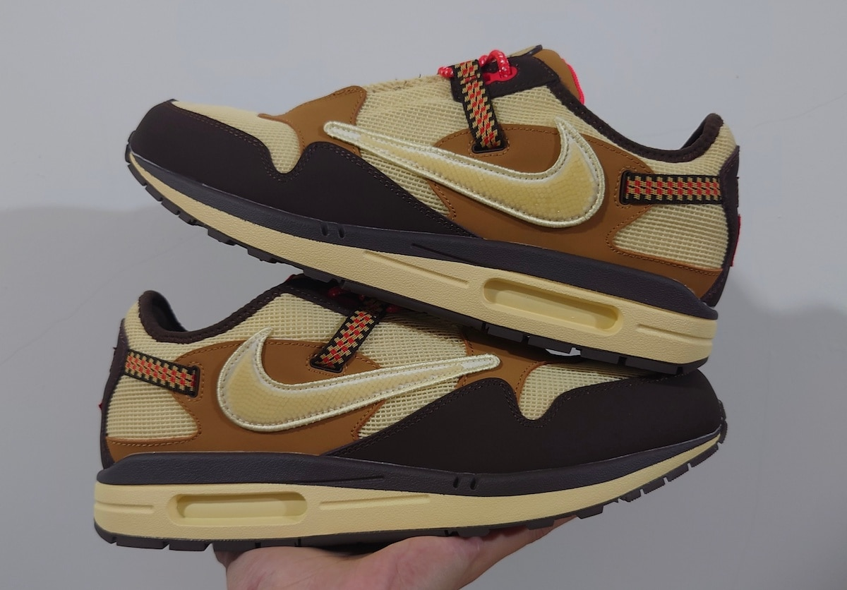 """Our Best Look at the Travis Scott x Nike Air Max 1 """"Baroque Brown"""""""