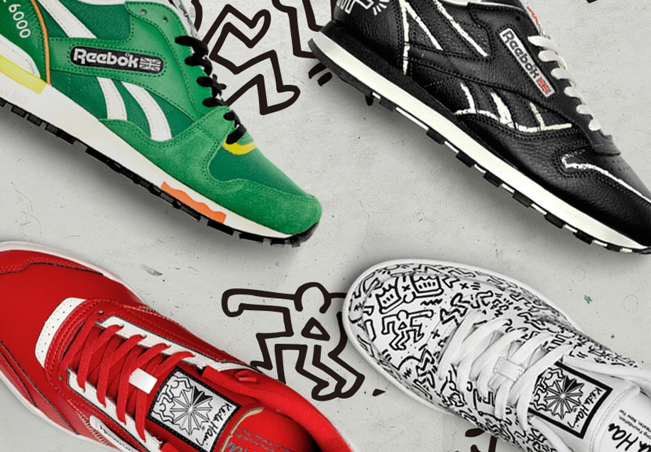 Reebok Announces a Wide Collection of Footwear in Collaboration with Keith Haring's Estate
