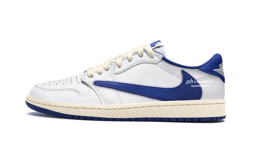 A White/Blue Travis Scott x Air Jordan 1 Low Has Surfaced