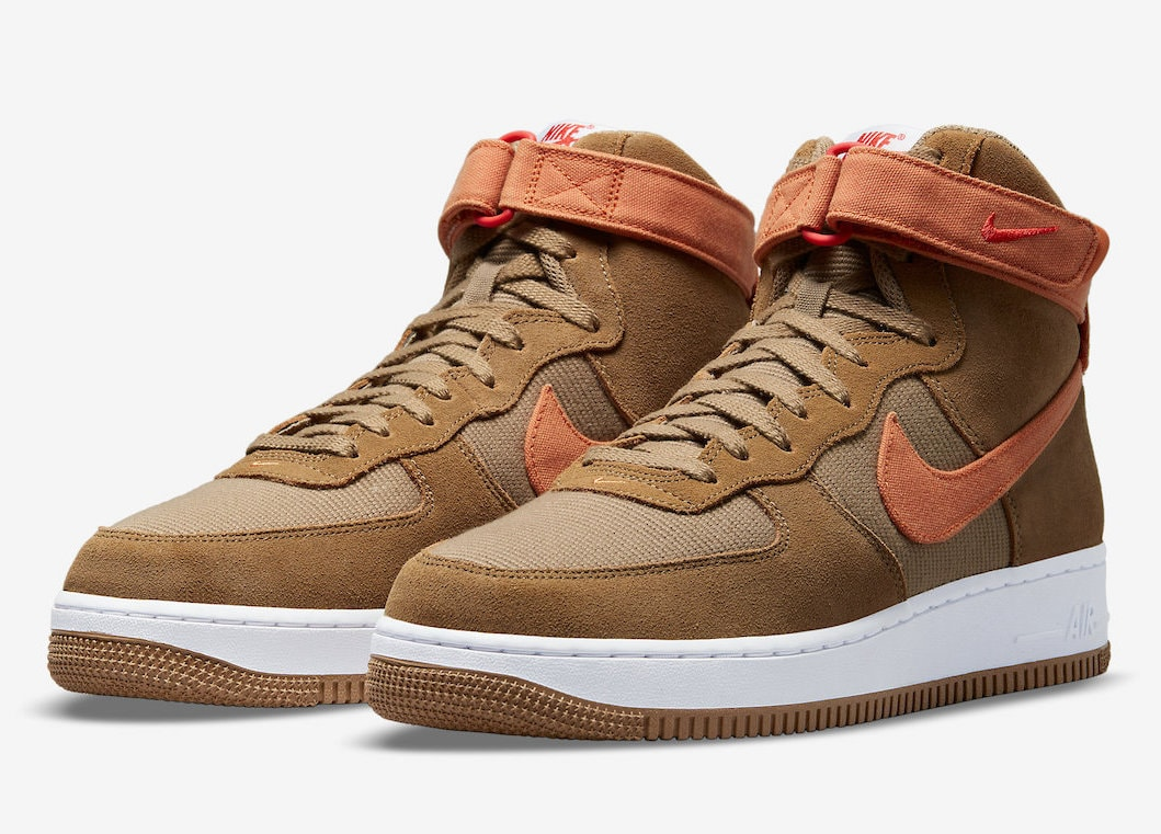The Nike Air Force 1 High Takes on Seasonal Colors & Materials in a Fall-Inspired Look