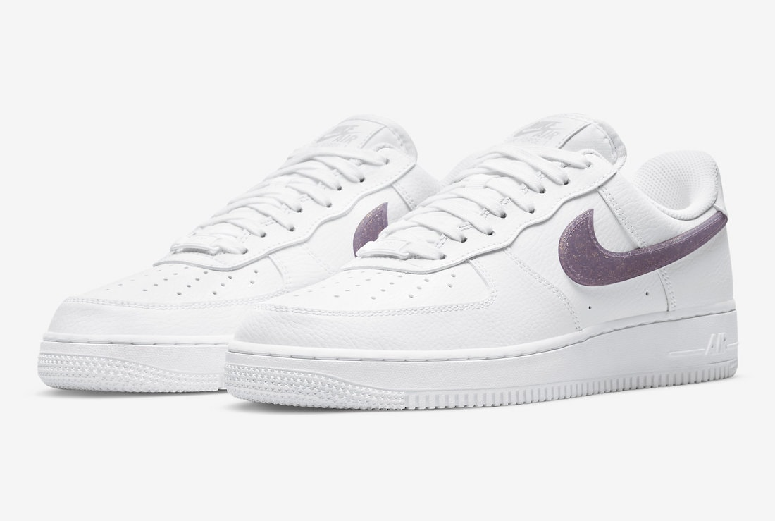 Purple Glitter Swooshes are Placed onto the Nike Air Force 1 Low