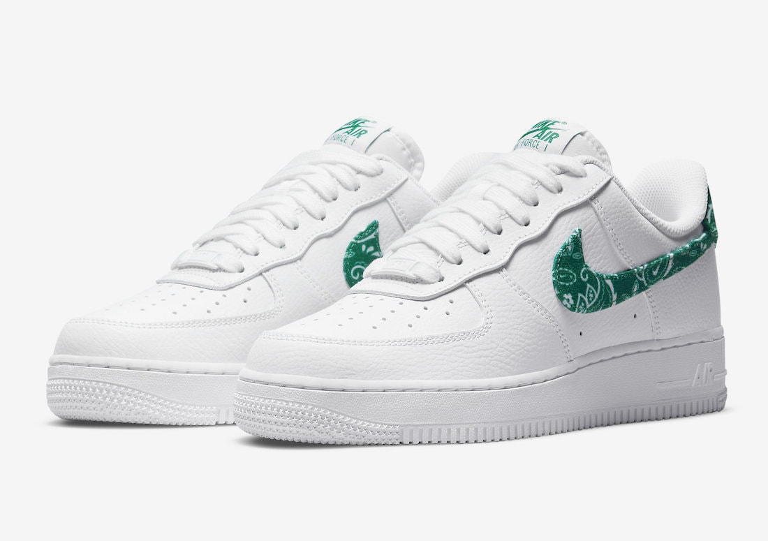 """""""Green Paisley"""" Adorns the Latest Nike Air Force 1 Low"""