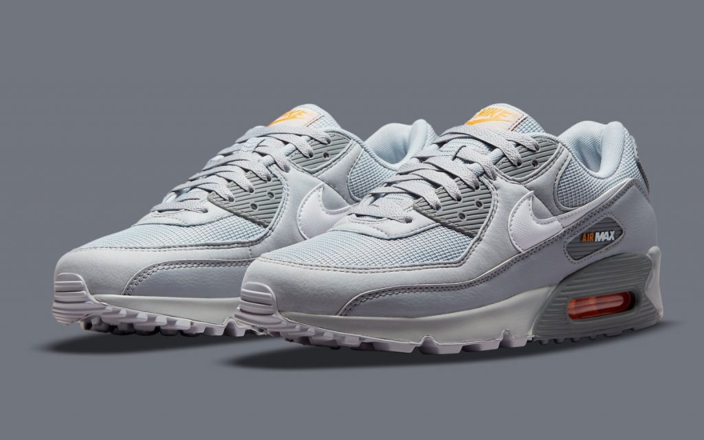 Nike Adds Subtle Orange Accents to a Tonal Grey Air Max 90